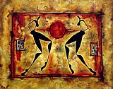 Sports paintings - Ancient athletics by 2010