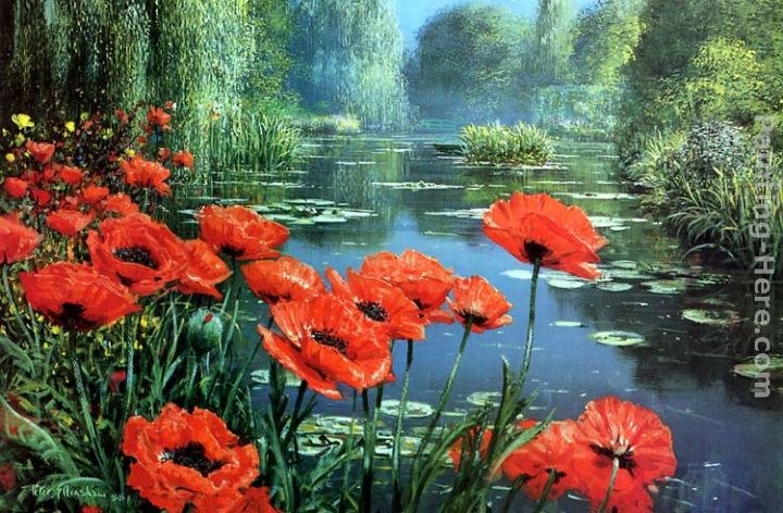 2011 red poppies painting best paintings for sale for Large artwork for sale