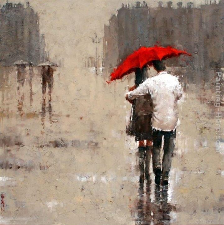 2011 Red Umbrella Painting