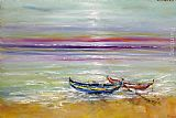 2011 Boats at the Black Sea painting
