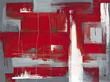 Leigh Banks Red abstract