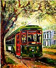 the kiss (le baiser _ il baccio) Paintings - New Orleans St Charles Streetcar by Diane Millsap