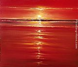 2011 Red on the Sea painting