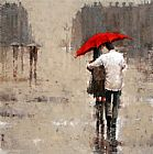 2011 Red umbrella painting