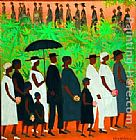2011 The Funeral Procession by Ellis Wilson painting