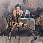 2011 raymond leech silky stockings painting