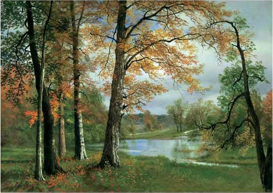 Albert Bierstadt A Quiet lake