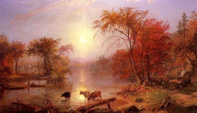 Albert Bierstadt Indian Summer, Hudson River