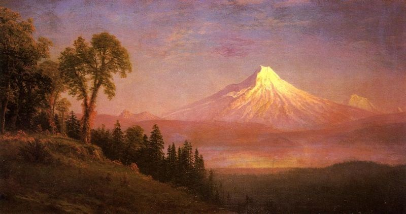 Albert Bierstadt Mount St. Helens, Columbia River, Oregon