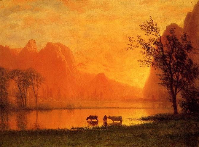 Albert Bierstadt Sundown at Yosemite