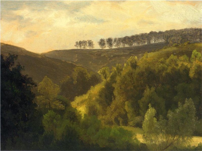 Albert Bierstadt Sunrise over Forest and Grove