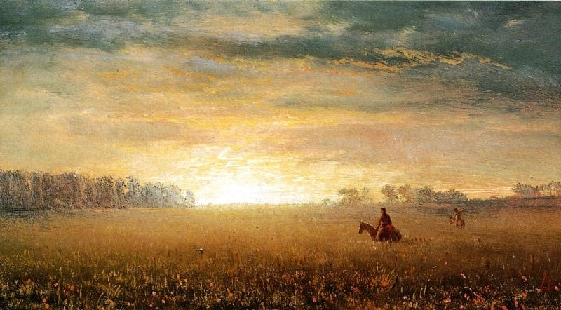 Albert Bierstadt Sunset of the Prairies