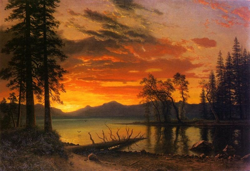 Albert Bierstadt Sunset over the River