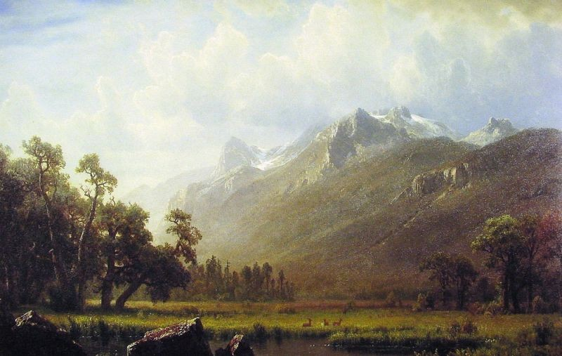 Albert Bierstadt The Sierras Near Lake Tahoe California
