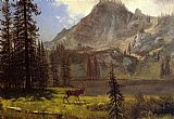 Albert Bierstadt Call of the Wild painting