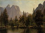 Albert Bierstadt Cathedral Rocks, Yosemite Valley painting