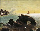 Albert Bierstadt Farralon Islands, California painting