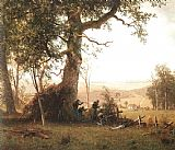 Albert Bierstadt Guerrilla Warfare (Picket Duty In Virginia) painting