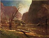 Albert Bierstadt Hatch-Hatchy Valley, California painting