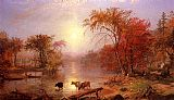 Albert Bierstadt Indian Summer, Hudson River painting