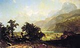 Albert Bierstadt Lake Lucerne, Switzerland painting