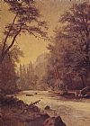 Albert Bierstadt Lower Yosemite Valley painting