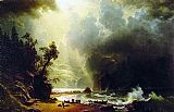 Albert Bierstadt Puget Sound on the Pacific Coast painting