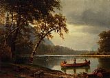 Albert Bierstadt Salmon Fishing on the Cascapediac River painting