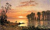 Albert Bierstadt Sunset painting