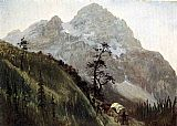 Albert Bierstadt Western Trail - The Rockies painting