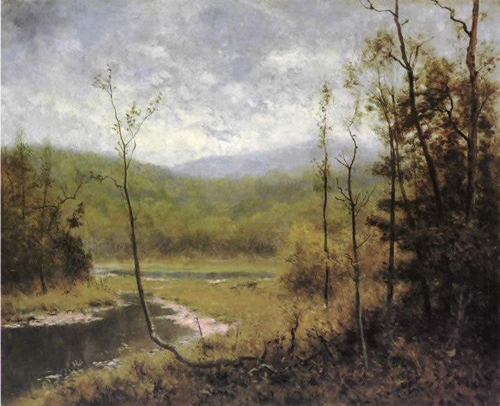 Alexander Helwig Wyant Quiet Stream_ Adironcack Mountains