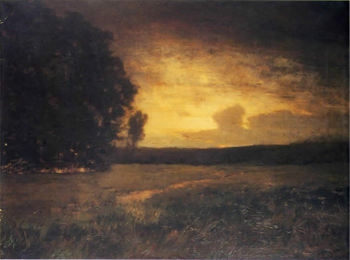 Alexander Helwig Wyant Sunset in the Marshes