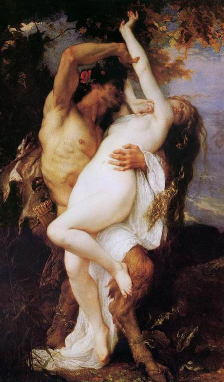 Alexandre Cabanel Nymph and Satyr