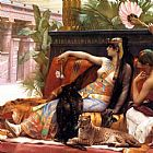 Alexandre Cabanel Cleopatra Testing Poisons on Condemned Prisoners cropped painting