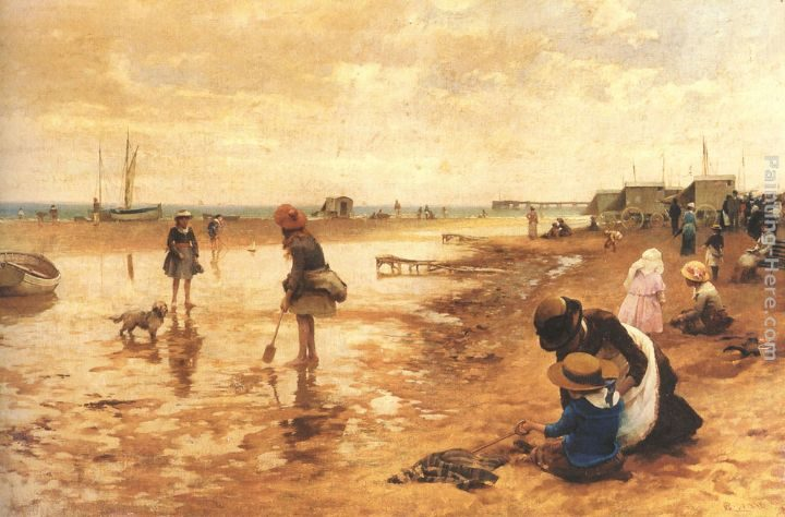 Alfred Glendening A day at the seaside