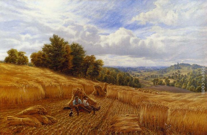 Alfred Glendening Resting From The Harvest