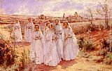 Alfred Glendening Returning From Confirmation painting