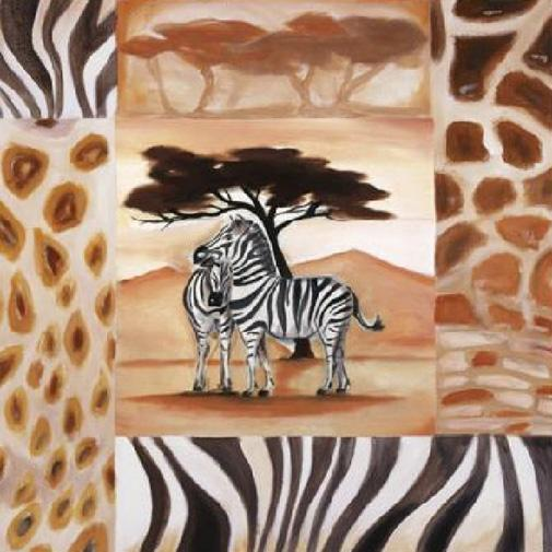 Alfred Gockel Animals of the Veldt - Zebras