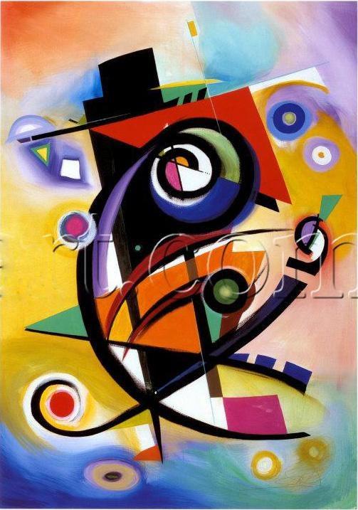 Alfred Gockel Homage to Kandinsky Painting | Best ...