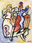 Alfred Gockel ALL THAT JAZZ painting