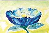 Alfred Gockel Blue Daisy painting