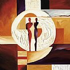 Alfred Gockel Circle of Love I painting