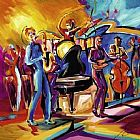 Alfred Gockel Full Swing II painting