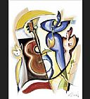 Alfred Gockel Lady Plays The Blues painting