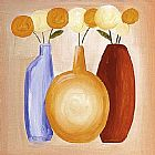 Alfred Gockel Multi-Hued Bottles III painting