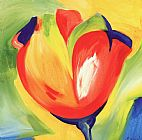 Alfred Gockel Riotous Tulips IV painting