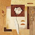 Alfred Gockel Rustic Flower Collage I painting