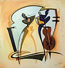 Alfred Gockel swingin painting