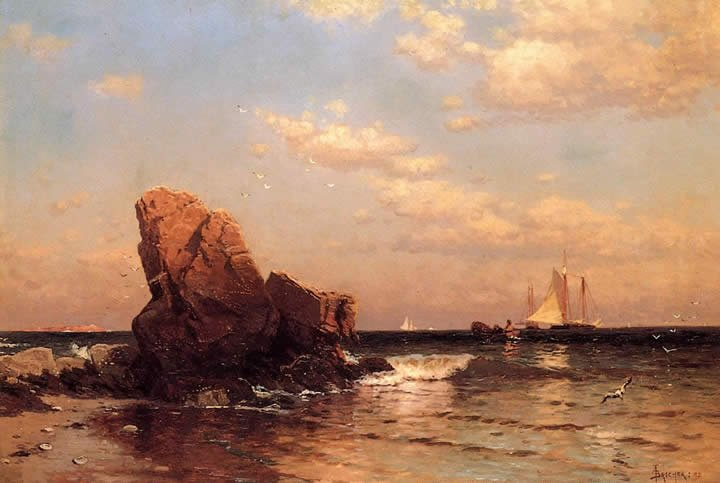 Alfred Thompson Bricher By the Shore