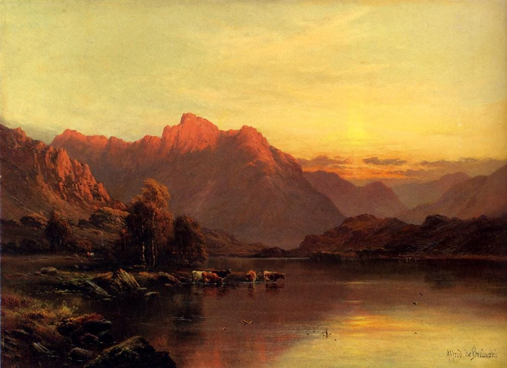 Alfred de Breanski Buttermere, The Lake District